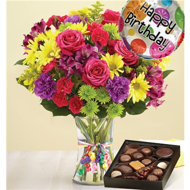 1 800 flowers its your day bouquet happy birthday chocolate